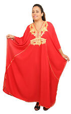 Plus size caftan Women Kaftan Caftans Muslim Long Dress Casual Abaya Red Robe