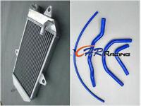Aluminum radiator and blue hose for Yamaha ATV BANSHEE YFZ350 YFZ 350 1987-2006
