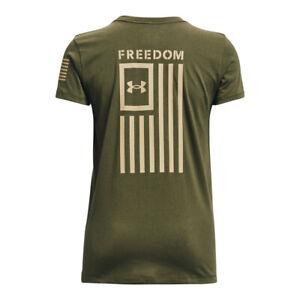 Under Armour 1370814 Women's Athletic UA Freedom Flag T-Shirt Short Sleeve Tee