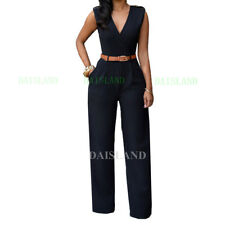Women Jumpsuit Romper Sleeveless Playsuit Clubwear Trousers Bodycon Pants Outfit