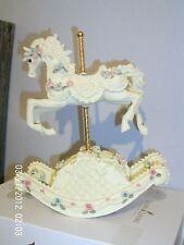 "Rocking Musical Carousel Horse Music Box Plays ""Beautiful Dreamer"""
