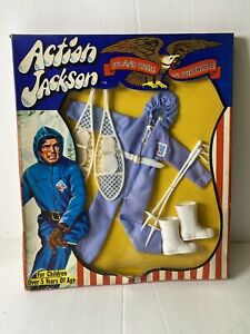 """1971 ACTION JACKSON 8"""" mego adventure figure -- SNOWMOBILE Outfit IN BOX tb"""