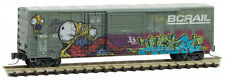 Micro-Trains MTL Z-Scale 50ft Boxcar British Columbia/BC Rail Monster Graffiti 3