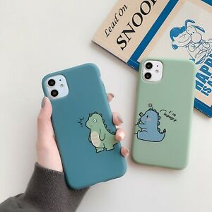 Dinosaur Couple Soft TPU Phone Case Cover For iPhone 12 11 Pro Max XR X XS 8 7 6