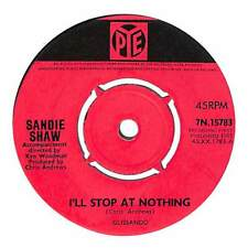 "Sandie Shaw - I'll Stop At Nothing  - 7"" Record Single"