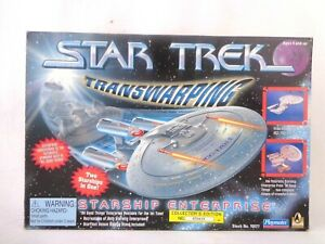 Star Trek Transwarping Starship Enterprise NCC-1701-D Vehicle Box Playmates Rare
