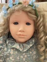 "RARE Pauline Bjonness Jacobsen doll Leandra 32"" One owner no COA"