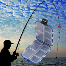 10 Compartments Storage Fly Fishing Lure Spoon Hook Bait Tackle Box Case Blue x1