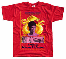 RETURN OF THE DRAGON Bruce Lee, movie poster T SHIRT all sizes S to 5XL