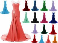 Sexy Long Chiffon Prom Dress Formal Evening Party Bridesmaid Dress Gown Size6-20