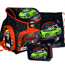 Race Speed Cars Autos Schulranzen Schulranzenset Ranzen Rucksack Set 3 teilig
