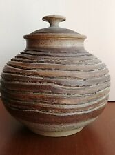 Vintage Charles Counts Studio Pottery Lidded Jar Rising Fawn mid century modern