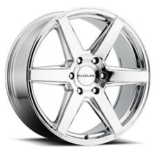 "4-NEW Raceline 156C Surge 18x8 6x139.7/6x5.5"" +15mm Chrome Wheels Rims"