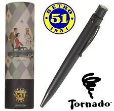 Retro 51  #VRR-1701 / Black Stealth Tornado Rollerball Pen