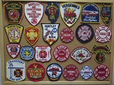 ILLINOIS FIRE/RESCUE DEPARTMENT PATCHES! SET ONE!LOT OF 24! See Item Description