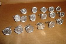 Assorted Monogram Faux WAX Seal design Cufflinks  Any Two (2) * Silver Plated