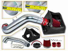 BCP RED 11-14 Ford F150 5.0L V8 Heat Shield Cold Air Intake + Filter