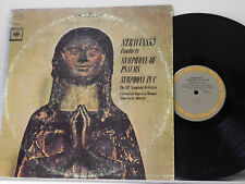 CBC Symphony Lp Stravinsky SYMPHONY OF PSALMS / SYMPHONY IN C ~ Columbia VG+