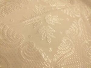 Bed cover throw white jacquard type double size immaculate