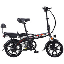 "14"" Folding Adult Electric Bike Double Disc Brake Electric Car 350W 48V 40-50km"