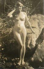 1920's Vintage Original Nude Photograph ARUNDEL HOLMES NICHOLLS Brunette Boulder