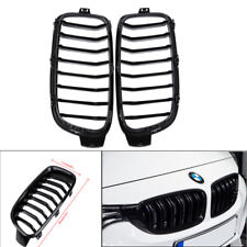 For BMW 3 Series F30 F31 4-door 2012-2016 Kidney Grill Grille Shiny Black