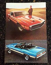 NOS Shelby Vintage Original 1969 Shelby GT-350/500 Mustang color postcard! Mint!