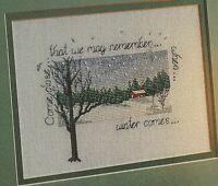 When Winter Comes Snow Scene Cross Stitch Pattern Chart from a magazine