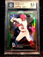 2016 Bowman Chrome Autograph Delvin Perez RC Draft Green Refractor /99 BGS Gem