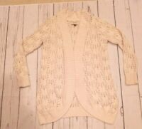 Sonoma Cardigan Sweater Small Cream Beige Open Front Knit Beachy Wrap MINT