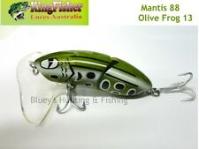 Kingfisher Mantis 88mm jointed cod surface lure; 13 olive frog