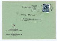 Gemeinsch.Ausg. Mi. 923 EF, Karlsruhe, Drucksache, P 2 + 50,00 - 7.6.46