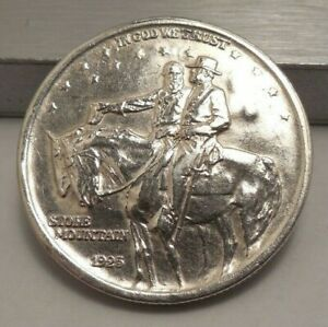 1925 Stone Mountain Commemorative Silver Half Dollar- 3 Counterstamps On Reverse