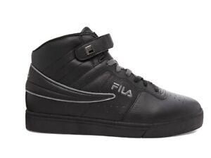 Fila Men's VULC 13 Mid Top Sneakers Black and Grey 10M