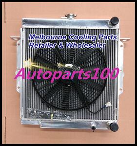 5 CORE Aluminum Radiator & Fan for Toyota Landcruiser 75 Series 2H Diesel HJ75
