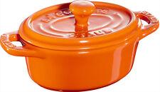 STAUB céramique 6 de Set Mini cocotte, ovale orange 11 cm Moule à soufflé