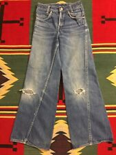 Vtg Big E Levi's Big Leg Hippie Flare Denim Jeans Measure 25x28! 3630