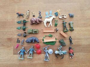 Various Britians, Matchbox, corgi (?) etc figures, accessories, various makes