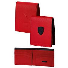 Puma Ferrari Mens Lifestyle Wallet Fan Slim Fold Card Holder Red 074847 02