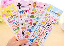 Cartoon 3D Bubble Stickers Cat  Dog Giraffe Elephant for Kids Gift Toy QW