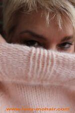 Angora  FUZZY SOFT SWEATER long DRESS Strickkleid flauschig  peach grey M-XL