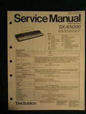 Technics Pcm Keyboard Sx-Kn200 Service Repair Shop Manual Wiring Sx Kn 200