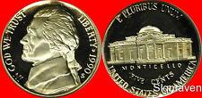 1990 S Jefferson Nickel Deep Cameo Gem Proof  No Reserve
