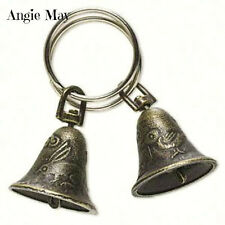 Keychains with Bird & Rabbit Design 6* Solid Brass Bell Key Rings