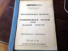 Century Turbocharger installed on Beechcraft Bonanza Service Manual