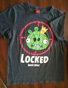 Angry Birds 'LOCKED' men's tee shirt  size L 2009-2013