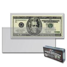 100 BCW Deluxe Semi Rigid Regular Bill Currency Money Storage Holder