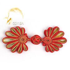5 Pair Handmade Chrysanthemu Chinese Frogs Closure Knots Buttons Ribbon Fastener