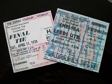 1970 F.A. Cup Final & Replay Tickets Chelsea v Leeds United mint condition.