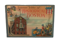 Vintage Historical Boston Old State House Unposted Souvenir Postcard Folder